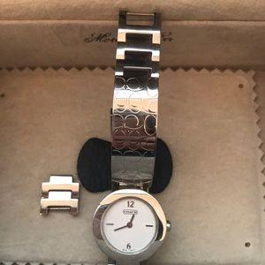 Authentic Coach Silver Signature C Watch